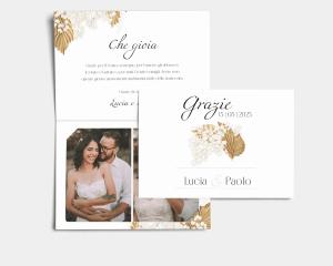 Ivory Luna - Biglietto di ringraziamento matrimonio con le foto