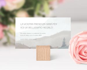 Painted Mountains - Biglietto lista nozze