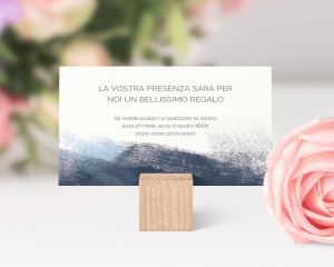 Modern Brushstroke - Biglietto lista nozze