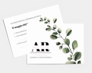 Leafy - Biglietto di conferma presenza (orizzontale)