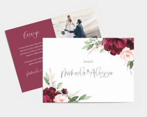 Beloved Floral - Biglietto di ringraziamento matrimonio