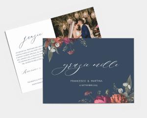 Blooming Botanical - Biglietto di ringraziamento matrimonio