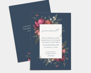 Blooming Botanical - Invito matrimonio A6 (verticale)