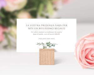 Leafy Hoops - Biglietto lista nozze