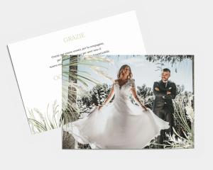 Erba della Pampas - Biglietto di ringraziamento matrimonio