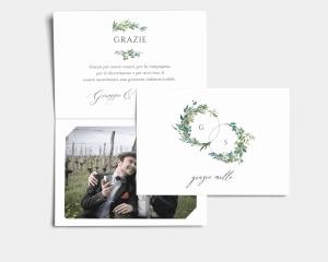 Leafy Hoops - Biglietto di ringraziamento matrimonio con le foto