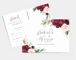 Beloved Floral - Biglietto di conferma presenza (orizzontale)