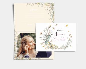Fairytale - Biglietto di ringraziamento matrimonio con le foto