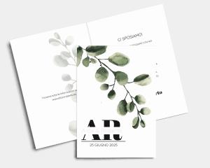 Leafy - Partecipazione matrimonio A6 (verticale)