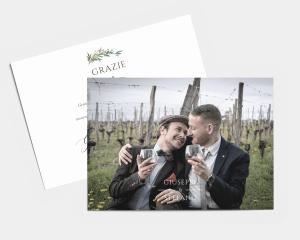 Leafy Hoops - Biglietto di ringraziamento matrimonio