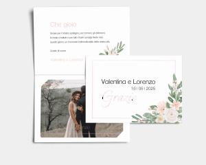 Ancona - Biglietto di ringraziamento matrimonio con le foto