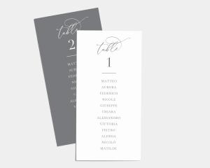 Romantic Calligraphy - Segnaposto Set de 1 - 10