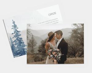 Painted Mountains - Biglietto di ringraziamento matrimonio