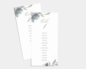 Muted Floral - Segnaposto Set de 1 - 10