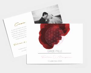 Flower of Life - Biglietto di ringraziamento matrimonio