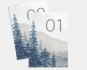 Painted Mountains - Cartoncini tableau Set 1 - 10