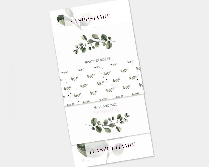 Leafy - Partecipazione matrimonio Set da 3