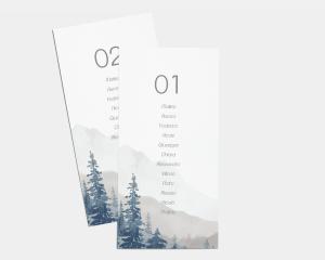 Painted Mountains - Segnaposto Set de 1 - 10
