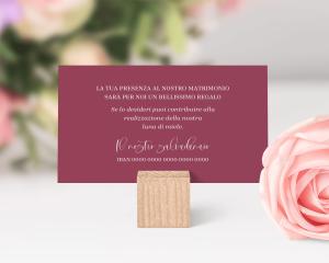 Beloved Floral - Biglietto lista nozze