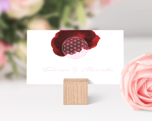 Flower of Life - Biglietto lista nozze