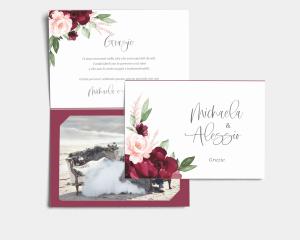 Beloved Floral - Biglietto di ringraziamento matrimonio con le foto