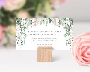 Romantic Wisteria - Biglietto lista nozze