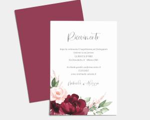 Beloved Floral - Invito matrimonio A6 (verticale)
