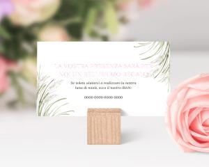 Erba della Pampas - Biglietto lista nozze