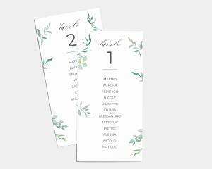 Leafy Ampersand - Segnaposto Set de 1 - 10