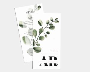 Leafy - Menù (formato pieghevole lungo)