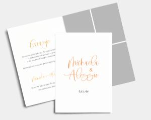 Beloved Floral - Biglietto di ringraziamento matrimonio pieghevole (verticale)