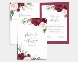 Beloved Floral - Partecipazione matrimonio con bigliettino