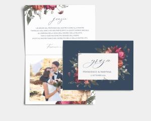 Blooming Botanical - Biglietto di ringraziamento matrimonio con le foto