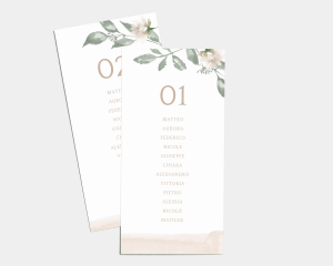 Dusted Calligraphy - Segnaposto Set de 1 - 10