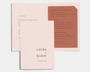 Natural Palette - Partecipazione matrimonio con bigliettino