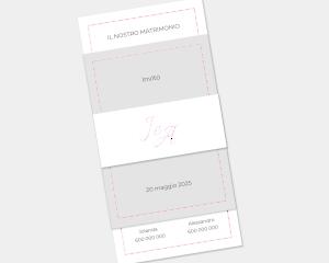 Kalligraphie - Partecipazione matrimonio Set da 3