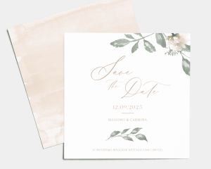 Dusted Calligraphy - Save the Date (quadrato)