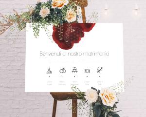 Flower of Life - Cartello di benvenuto (orizzontale)