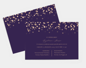 Elegant Glow - Partecipazione matrimonio A5 (orizzontale)
