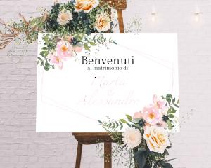 Fiore - Cartello di benvenuto (orizzontale)