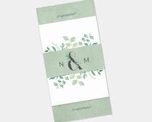 Leafy Ampersand - Partecipazione matrimonio Set da 3