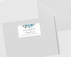 Blue Romance - Etichette degli indirizzi