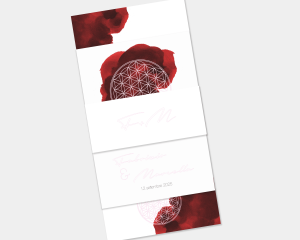 Flower of Life - Partecipazione matrimonio Set da 3