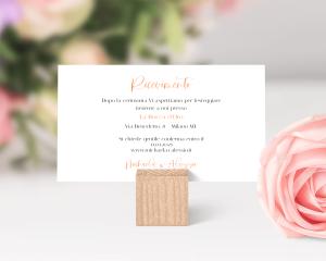 Beloved Floral - Biglietto invito piccolo