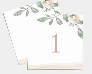 Dusted Calligraphy - Segnatavolo Set Nr. 1 - 10 (quadrato)