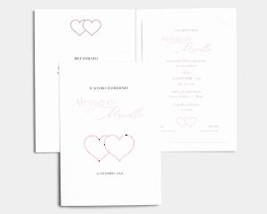 Hearts - Partecipazione matrimonio con bigliettino