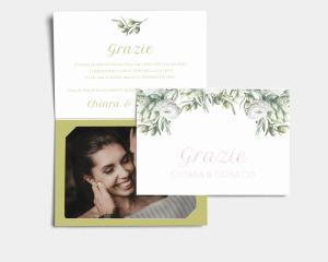 Branche - Biglietto di ringraziamento matrimonio con le foto