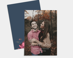 Blooming Botanical - Save the Date (verticale)