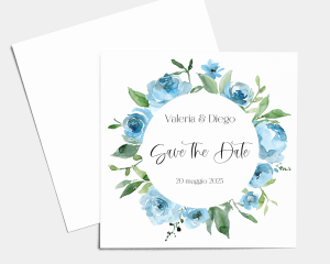 Blue Romance - Save the Date (quadrato)