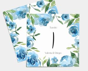 Blue Romance - Segnatavolo Set Nr. 1 - 10 (quadrato)